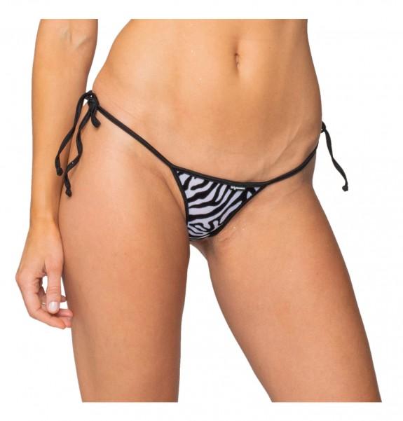 Zebra print g-string bikini